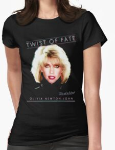 OLIVIA NEWTON-JOHN - TWIST OF FATE - 80s Womens Fitted T-Shirt