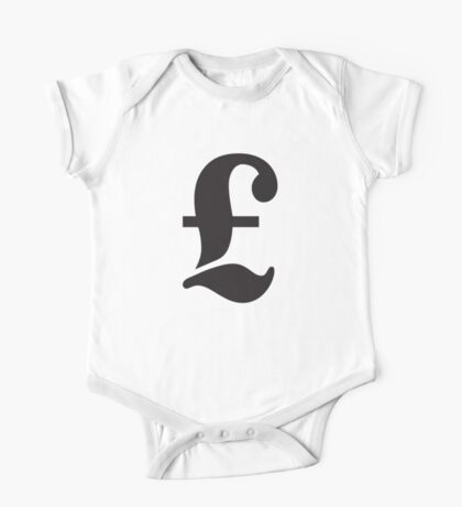 £, POUND, Pound sign, money, currency, symbol, sign, money, success, finance, lucre, One Piece - Short Sleeve
