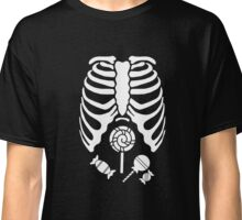 Skeleton With Candy Inside Belly Classic T-Shirt