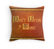 Once Upon A Time - Colorful Book Cover Throw Pillow