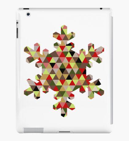 Multicoloured Modern Triangle Snowflake Christmas Design iPad Case/Skin