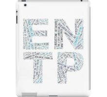 ENTP Word Cloud iPad Case/Skin