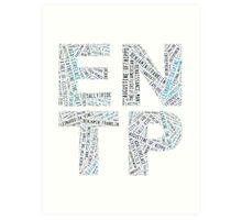 ENTP Word Cloud Art Print