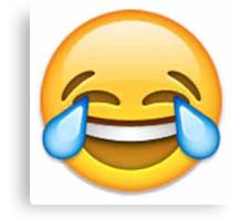 Laughing Emoji Canvas Print