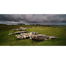 A storm brewing over Arbor Low     Photographic Print