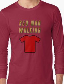Red Man Walking ( Clothing & Stickers)  Long Sleeve T-Shirt