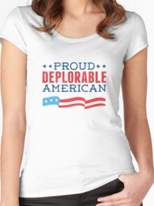 Proud Deplorable American (Trump 2016) Women's Fitted Scoop T-Shirt