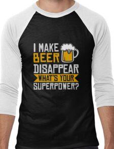 I Make Beer Disappear Men's Baseball ¾ T-Shirt