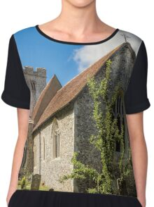 The parish church of Saint Cosmas and Saint Damian Chiffon Top