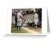 Babe Ruth unconscious 1924 Greeting Card