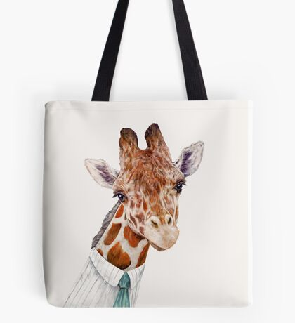 Male Giraffe Tote Bag