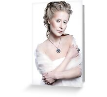 Winter snow queen woman portrait Greeting Card