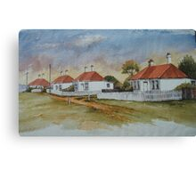 Low Head Cottages by Muriel Sluce Canvas Print