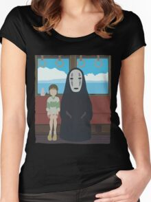 No Face Train Women's Fitted Scoop T-Shirt