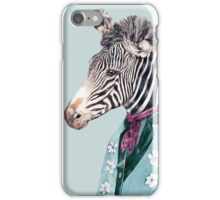 Zebra Blue iPhone Case/Skin