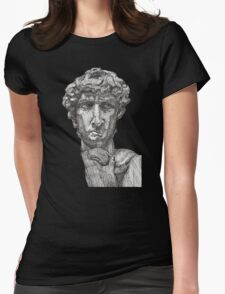 David - Statue of David Womens Fitted T-Shirt