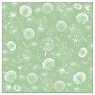 Dandelion Duvet Cover, Print, Poster, Stickers, Cards, iPhone Case, Samsung Case, iPad Case, Pillows, Tote Bags by Linda Allan