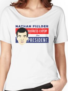 Nathan Fielder for President (Nathan for You) Women's Relaxed Fit T-Shirt