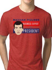 Nathan Fielder for President (Nathan for You) Tri-blend T-Shirt