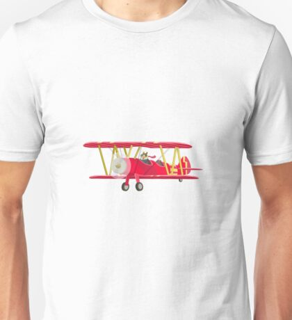 Big City Vehicles - Squirrel Pilot Flying Airplane Unisex T-Shirt