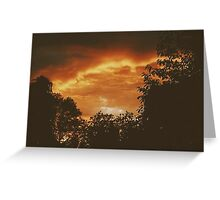 Heavenly Fire Greeting Card