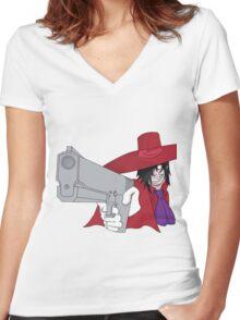 Alucard Women's Fitted V-Neck T-Shirt