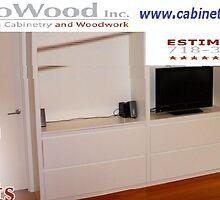 Custom Bookcase Brooklyn by cabinetmakerny