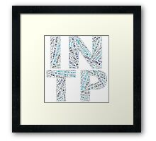 INTP Word Cloud Framed Print
