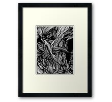 abstract linework Framed Print