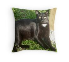 Mia - the Cat with a Heart  Throw Pillow