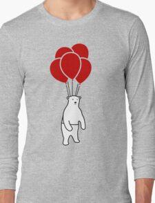 Polar Bear and Balloons  Long Sleeve T-Shirt