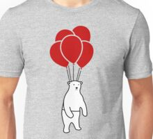 Polar Bear and Balloons  Unisex T-Shirt
