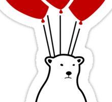 Polar Bear and Balloons  Sticker