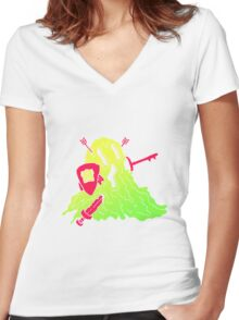 Ooze Armour Key Holder Women's Fitted V-Neck T-Shirt