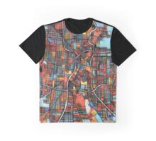 Abstract Map of San Antonio TX Graphic T-Shirt