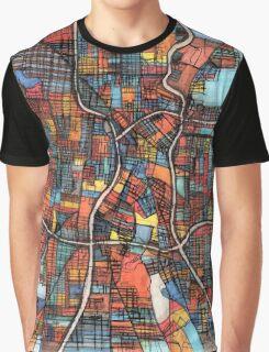 Abstract Map of San Antonio TX Graphic T-Shirt