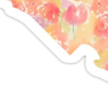 Maryland Watercolor Flowers Sticker