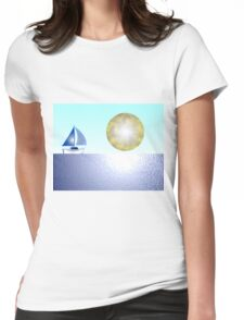 Sail Boat iPhone / Samsung Galaxy Case Womens Fitted T-Shirt