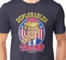 Deplorables For Trump 2016 Unisex T-Shirt