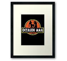 Octagon MMA Jurassic Fighting Framed Print