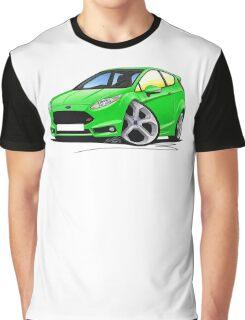 Ford Fiesta (Mk7) ST Green Graphic T-Shirt