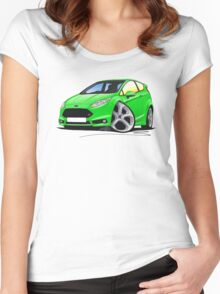 Ford Fiesta (Mk7) ST Green Women's Fitted Scoop T-Shirt