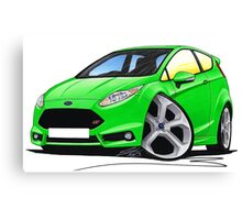 Ford Fiesta (Mk7) ST Green Canvas Print