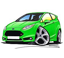 Ford Fiesta (Mk7) ST Green Photographic Print