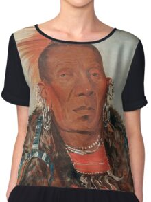 Wah-ro-née-sah (The Surrounder) Chief of the Otoe tribe. Chiffon Top