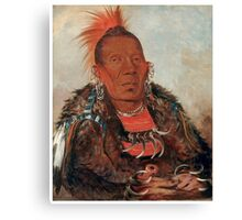 Wah-ro-née-sah (The Surrounder) Chief of the Otoe tribe. Canvas Print
