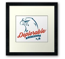 Deplorable Patriot Eagle Framed Print