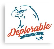 Deplorable Patriot Eagle Canvas Print