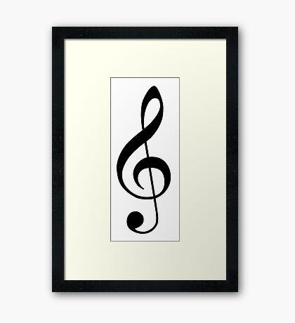 Treble Clef Music Framed Print