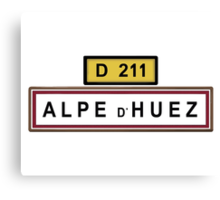 Alpe d'Huez Sign Tour de France Cycling Shirt Canvas Print